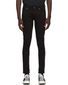 Nudie Jeans Black Skinny Linn Jeans