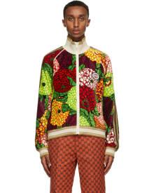 Gucci Multicolor Velvet Floral Jacket