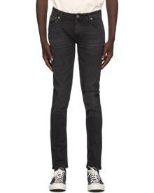 Nudie Jeans Black Worn Skinny Lin Jeans