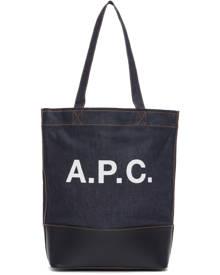 A.P.C. Indigo Denim Axelle Tote