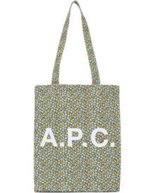 A.P.C. Green Floral Lou Tote