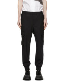 Neil Barrett Black Wool Carrot Cargo Pants