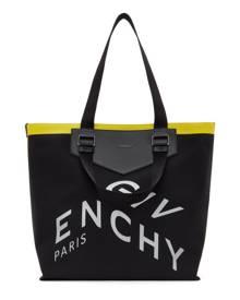 Givenchy Black Canvas Contrasted Antigona Tote