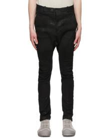 Boris Bidjan Saberi Black Vinyl-Coated Skinny Jeans