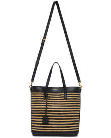 Saint Laurent Beige and Black Toy North/South Shopping Tote