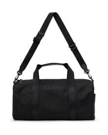 Hugo Black Gabardine Tonal Logo Holdall Duffle Bag