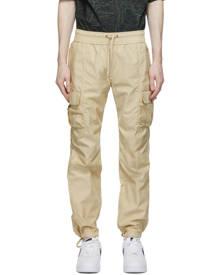 John Elliott Beige Sateen Cargo Pants