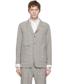 Snow Peak Grey Tweed C/L Check Blazer