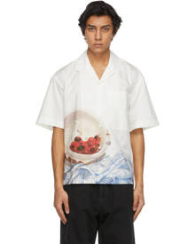 Jacquemus White Cherries La Chemise Jean Short Sleeve Shirt