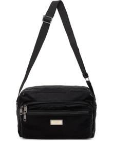 Dolce and Gabbana Black Nero Sicilia DNA Nylon Messenger Bag