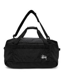 Stussy Black 55L Two-Way Duffle Bag