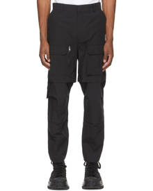 Juun.J Black Detachable Knee Cargo Pants
