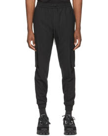Juun.J Black Stretch Jogger Cargo Pants