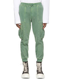 Juun.J Green Garment-Dyed Jogger Cargo Pants