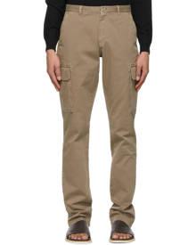 Isaia Brown Slim Cargo Pants