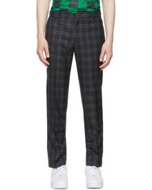 Liberal Youth Ministry Grey Plaid Grunge Trousers