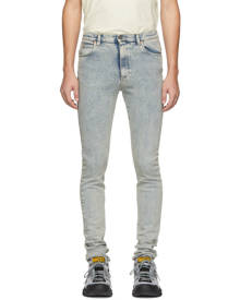Gucci Blue Marble Bleach Skinny Jeans