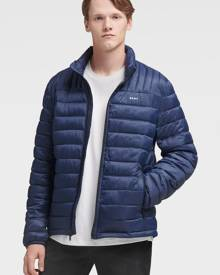 DKNY Men's Packable Quilted Puffer - New Navy - Size S