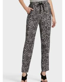 DKNY Women's Printed Pull On Pant - Avenue Grey Black Multi - Size XX-Small