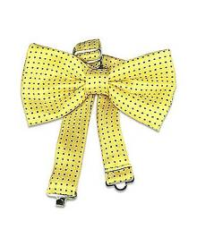 Forzieri Designer Bowties and Cummerbunds, Yellow Polkadot Pre-tied Bowtie