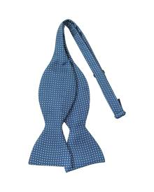 Forzieri Designer Bowties and Cummerbunds, Small Polkadot Self-tie Silk Bowtie