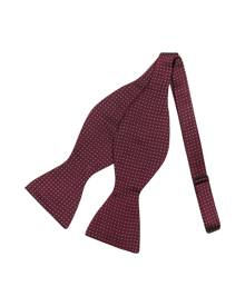 Forzieri Designer Bowties and Cummerbunds, Polkdot Silk Self-tie Bowtie