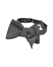 Forzieri Designer Bowties and Cummerbunds, Printed Silk Self-tie Bowtie