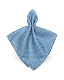Forzieri Designer Pocket Squares, Mini Polkadot Twill Silk Pocket Square