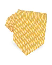 Forzieri Designer Ties, Bicolor Woven Silk Tie