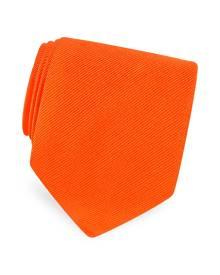 Forzieri Designer Ties, Solid Twill Silk Tie