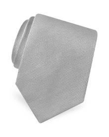 Forzieri Designer Ties, Gold Line Solid Classic Woven Silk Tie