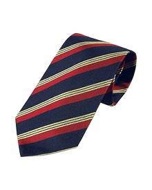 Forzieri Designer Ties, Regimental Extra-Long Tie