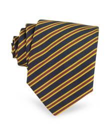 Forzieri Designer Ties, Regimental Extra-Long Tie