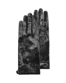 Forzieri Designer Women's Gloves, Women's Black Chenille Gloves