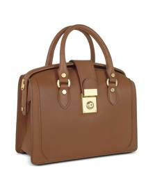 L.A.P.A. Designer Handbags, Brown Italian Leather Doctor Bag