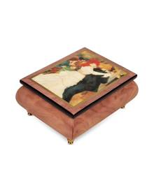 """Forzieri Designer Jewelry Boxes, It's a Small World - """"Dance at Bougival"""" Musical Jewelry Box"""