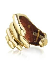 Bernard Delettrez Designer Bracelets, Hand Bronze Cuff Bracelet
