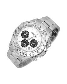 Forzieri Designer Men's Watches, Porto Cervo White Dial Chronograph Watch