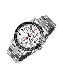 Raymond Weil Designer Men's Watches, W1 - White Stainless Steel Chronograph Watch w/ Tachymetre