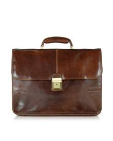 Chiarugi Designer Briefcases, Large Brown Leather Briefcase