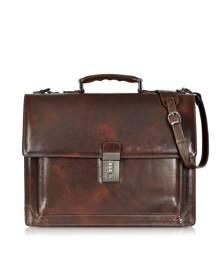 L.A.P.A. Designer Briefcases, Cristoforo Colombo Collection Leather Briefcase