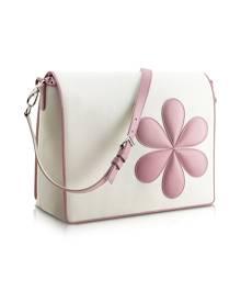 Pineider Designer Travel Bags, Pink Flower Messenger Changing Bag