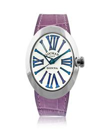 Locman Designer Women's Watches, Change Stainless Steel Oval Case Women's Watch w/3 Leather Straps