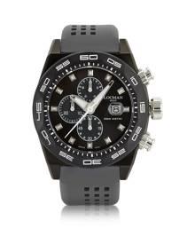 Locman Designer Men's Watches, Stealth 300mt Dark Gray Stainless Steel and Titanium Men's Chronograph Watch