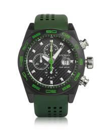 Locman Designer Men's Watches, Stealth 300mt Green Carbon Fiber and Titanium Quartz Movement Men's Chronograph Watch