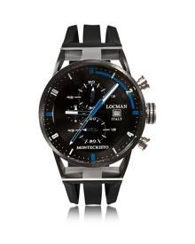 Locman Designer Men's Watches, Montecristo Stainless Steel & Titanium Men's Chronograph Watch
