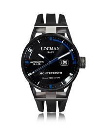 Locman Designer Men's Watches, Montecristo Black PVD Stainless Steel & Titanium Automatic Men's Watch