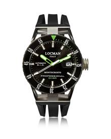 Locman Designer Men's Watches, Montecristo Black PVD Stainless Steel & Titanium Chronograph Men's Watch