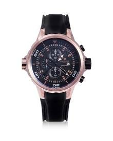 Lancaster Designer Men's Watches, Space Shuttle Rose Gold PVD Stainless Steel Chronograph Watch
