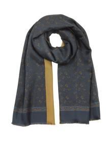 Forzieri Designer Men's Scarves, Modal & Silk Micro Paisley Print Men's Fringed Scarf